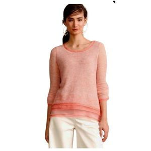 Anthropologie Coral Irina Layered Pullover Sweater